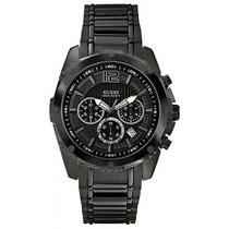 Guess W0165g3 Chronograph Black Stainless Steel Men's Watch New Photo