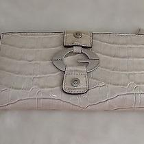 Guess Wallet Off White Leather With Croc Embossed Photo