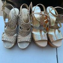 Guess  Wedge Gold W/ Gold Accents Size 8m Photo