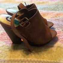 Guess Wedge Platform Brown Shoes New 7.5 Photo