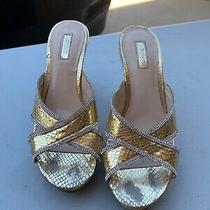 Guess Wedges Gold 8 Rhinestones Photo