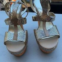 Guess Wedges Gold in Color  Size 8 Photo