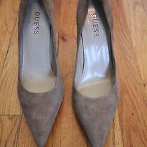 Guess Wg Cyrano Brown Suede Heels Women's Shoes Size 9 Medium Free Shipping Photo