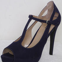 Guess 'Wg Zandra' T-Strap Pumps Color Purple  Size 10 Photo