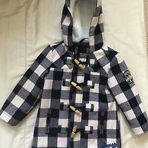 Guess White/blue Plaid Coat Baby Boy Sz 2 Photo