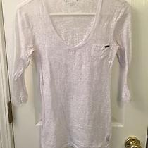 Guess White Burnout v-Neck Tee - Small Photo