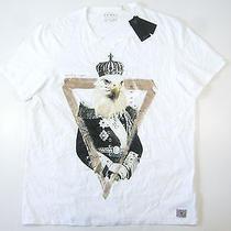 Guess White Gold 2xl King Eagle Tshirt Mens Nwt New Photo