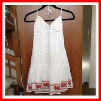 Guess White Halter Top Sun Dress 3 S  Photo