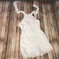 Guess - White Lace Sleeveless Backless Romper - Size 8 Photo