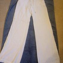 Guess White Linen Pants Size S Euc Photo