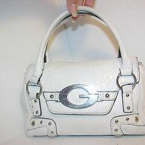 Guess White Little Tote Bag Handbag Purse Photo