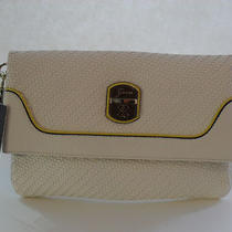 Guess White Multi Fashion Clutch Makala Foldover Brand New Photo