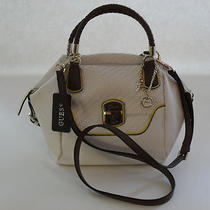 Guess White Multi Fashion Makala Satchel Brand New Photo