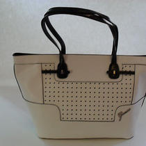 Guess White Multi Fashion Rumi Carryall Brand New Photo