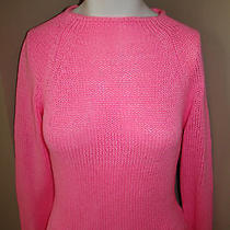 Guess Woman's Long Sleeved Acrylic Pink Sweater Sz Med  Photo
