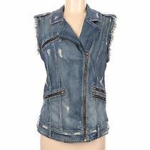 Guess Women Blue Denim Vest S Photo