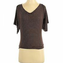 Guess Women Brown Short Sleeve Top S Photo