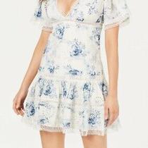 Guess Women Dress White Size Xl Sheath Crochet Eyelet Floral v-Neck 148- 469 Photo