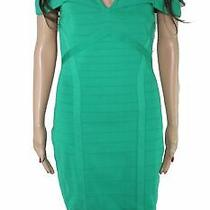 Guess Women's Bandage Dress Clover Green Size Large L Cold Shoulder 128 075 Photo