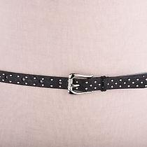 Guess Women's Belt Synthetic Skinny Leather Pin Dot Studded Black  L Photo