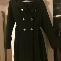 Guess Women's Black Coat With Waist Tie Photo