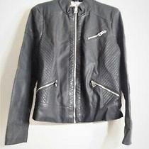 Guess Women's Black Faux Leather Moto Biker Jacket Size Xl Nwt - Retail 150 Photo