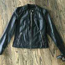 Guess Womens Black Faux Leather Scuba Jacket Size Large Nwt 180 Photo