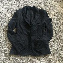 Guess Women's Black Polka Dot Stretch One Button Blazer Jacket Size 2 Photo