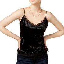 Guess Women's Blouse Black Size Small S Velvet Lace Trim Cami v Neck 58 669 Photo