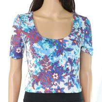 Guess Women's Blouse Blue Size Small S Cropped Top Floral Print 49 134 Photo