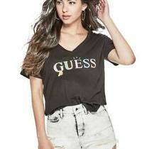 Guess Women's Cheeky Guess v-Neck Logo T-Shirt Size S Zr-P Photo