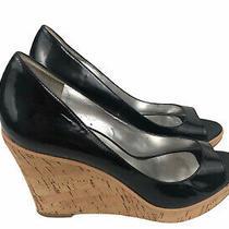 Guess Womens Cork Wedge Black Heels Size 8.5 M Photo