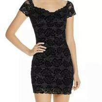 Guess Womens Drea Black Floral Lace Off the Shoulder Cocktail/party Dress S Nwt Photo