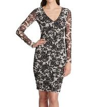 Guess Women's Dress Black Size 0 Sheath Floral Illusion Ruched 108 315 Photo