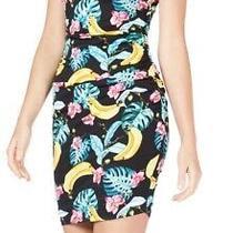 Guess Women's Dress Black Size Large L Sheath Off Shoulder Fruit Mini 79 591 Photo