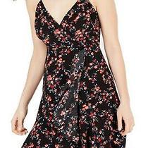 Guess Women's Dress Black Size Small S a-Line Faux Wrap Floral Print 108 337 Photo