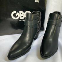 Guess Women's Dustyn Black Side Zip Ankle Boots     6.5 M     New  Photo