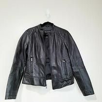 Guess  Women's Faux Leather Zip Up Motorcycle Biker Jacket  Size Large Photo
