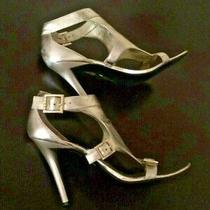 Guess Women's Gold Sandals High Hills Shoes Sz 9/m Photo