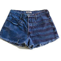Guess Womens Jean Shorts Vintage American Flag Denim Red & Blue Short Size 2 Photo