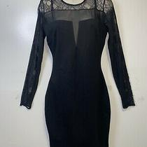 Guess Women's Lace Dress Black Open Chest and Back Evening Dress Size Small Photo