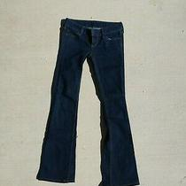 Guess Women's Low-Rise Flare Bootcut Jeans Dark Denim Size 0 25 Photo