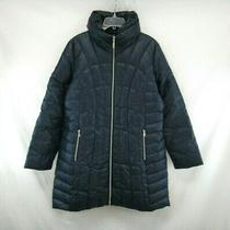 Guess Women's Navy Full Zip Quilted Puffer Jacket Coat Size Xl Vin328 Photo