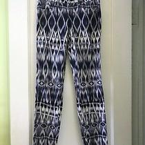 Guess Women's Pants Brittany Legging Blue White Tribal Animal Skinny Bohemian 25 Photo