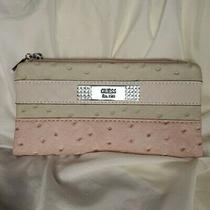 Guess Women's Pink Embossed Clutch Wallet Purse Euc Photo