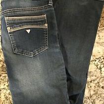 Guess Women's Pismo Fit Straight Leg Jeans Size 30 X 31 Low Rise Blue Photo
