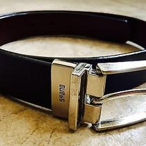 Guess Women's Reversible Black or Brown Belt Genuine Leather Size Small Photo
