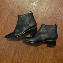 Guess Womens Safarri Chelsea Leather Booties Black Size 8 Pre Owned Free Ship Photo