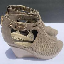 Guess Womens Sandals/wedge Heels Size 9m Light Green Photo