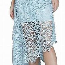 Guess Women's Skirt Light Ice Blue Size Xs Asymmetrical Oria Macrame 158 625 Photo